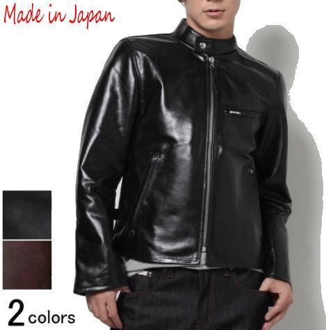 革ジャン メンズ 本革 ホースレザー レザージャケット シングル ライダースジャケット フリーダム FD-001