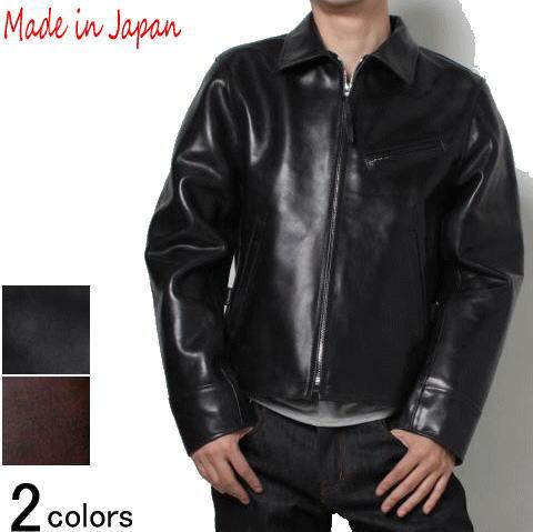 革ジャン メンズ 本革 ホースレザー レザージャケット シングル 襟付き ライダースジャケット フリーダム FD-003