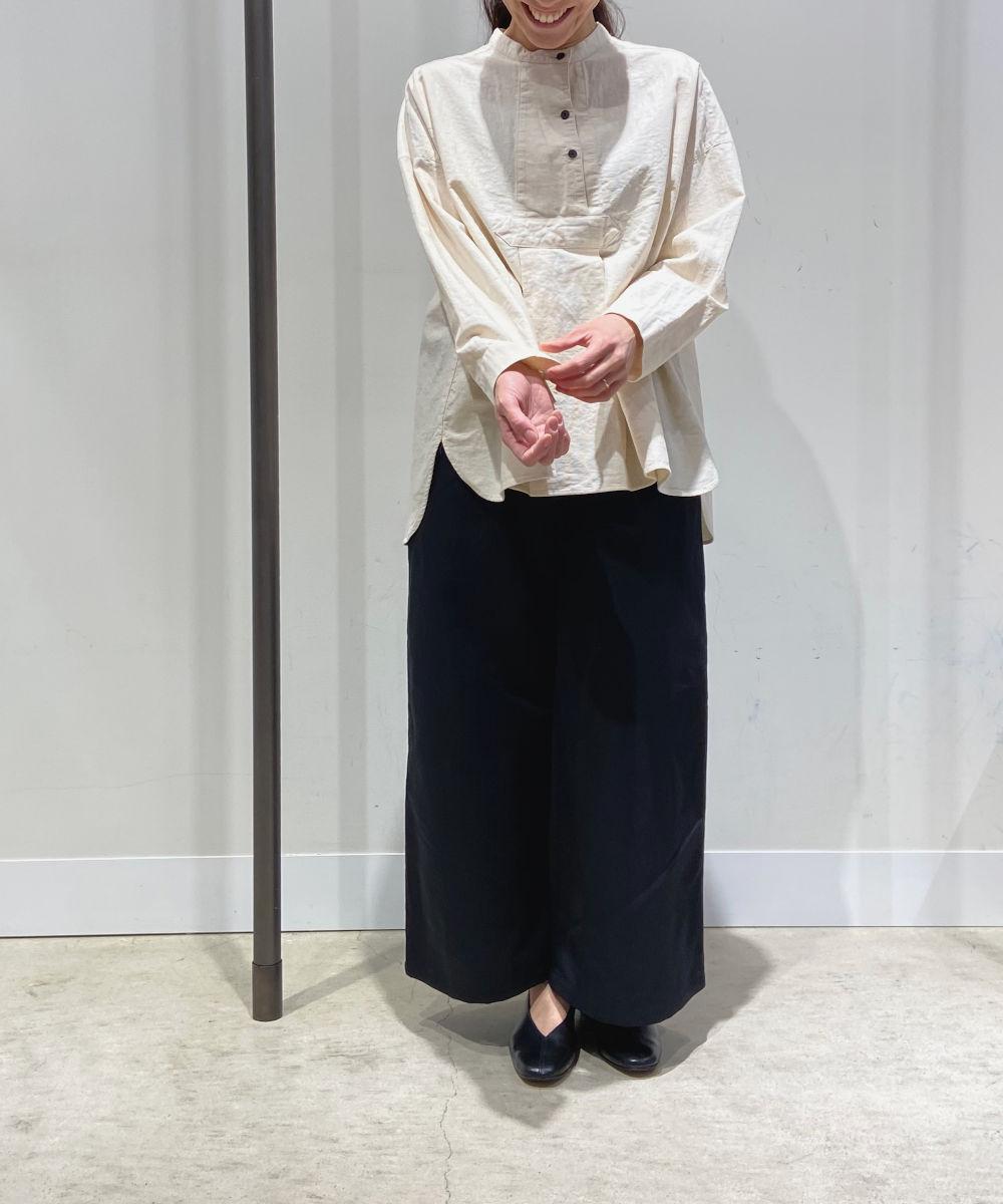 【お買い物するだけ20倍】tumugu(ツムグ) ムラ糸コットンパナマプルオーバーシャツ【20200422】【G】