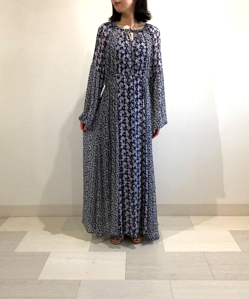 【お買い物するだけ20倍】ne Quittet pas ヌキテパ フラワーミックスギャザードレス【20200429】【D】
