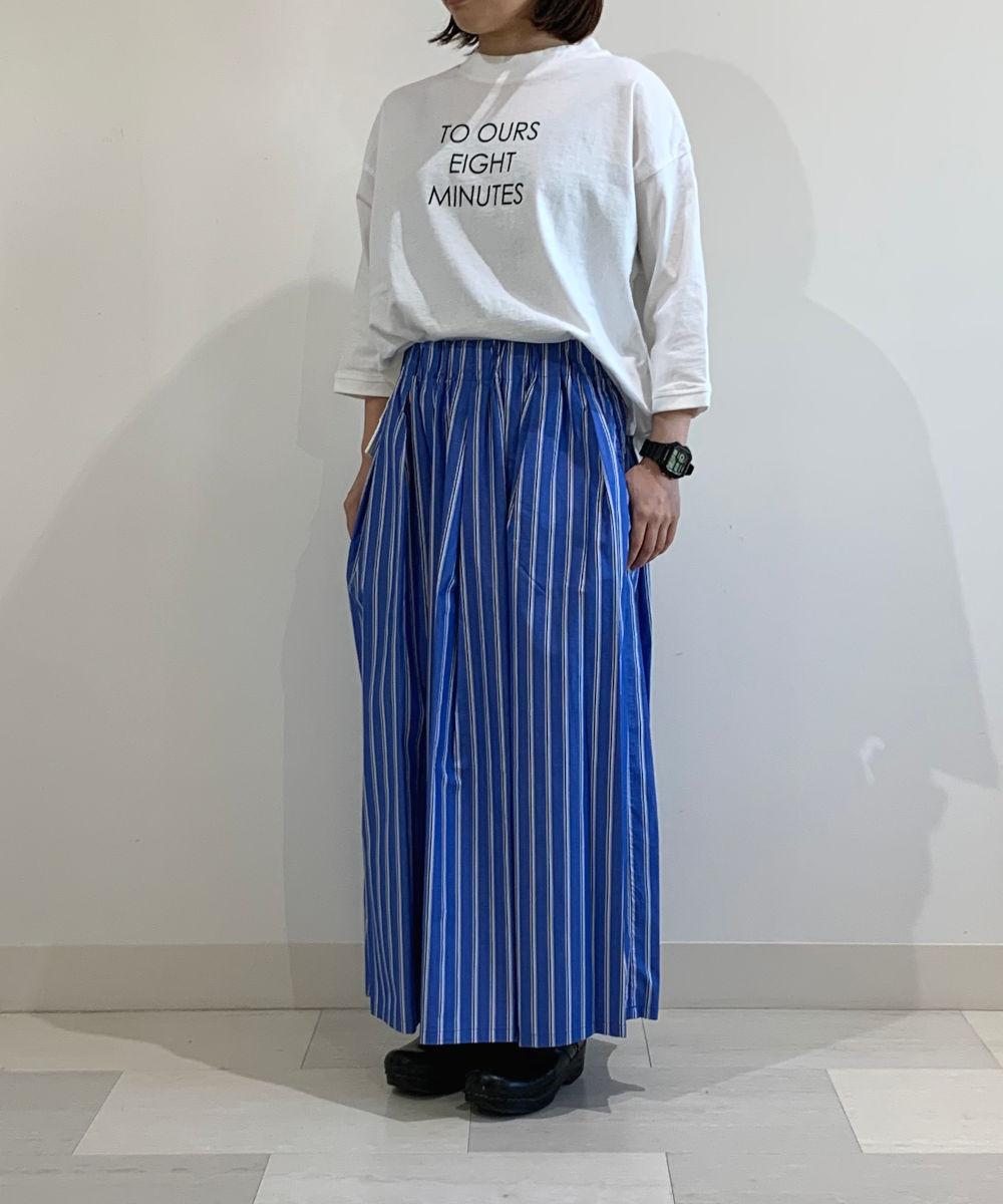 【お買い物するだけ20倍】DANA FANEUIL ダナファヌルブロードストライプスカート【20200430】【D】