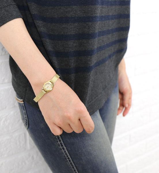 Tulipa(チュリパ)ゴールドブレス ラウンドフェイス 腕時計・TU04-MGD-3111801【レディース】