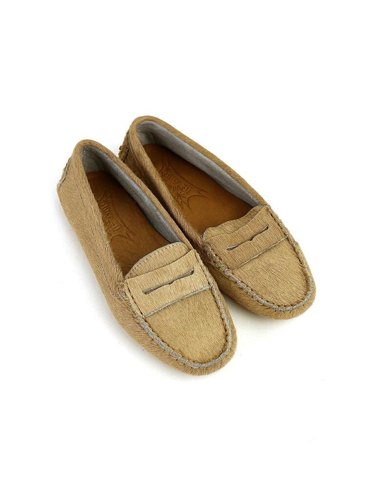 "Campbell 杰弗里 (Jeffrey Campbell) 皮革小马头发平莫卡辛鞋""莫奇"",NJCB 1351 H 0341402"