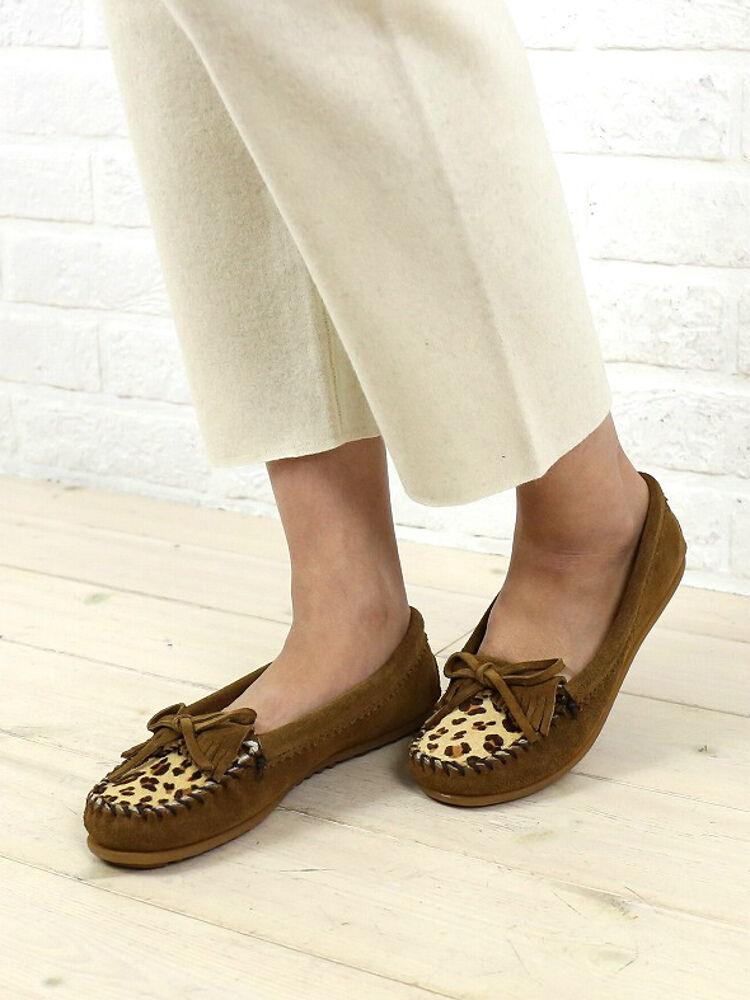 2521402 34XF MINNETONKA Minnetonka shoes moccasin suede MOC pattern you Leopard KILTY LEOPARD EvqtPP