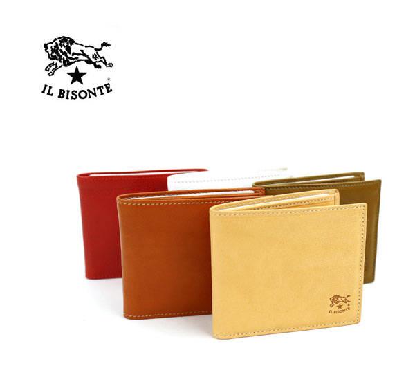 IL BISONTE(イルビゾンテ)レザー 二つ折り 財布・411853-0061802【メンズ】【レディース】【1F】