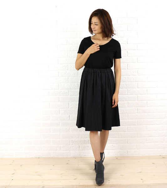 Dress apt.(ドレスアプト) カットソー&ジャージスカート 切替え ドッキング ワンピース・16374-1991502【レディース】