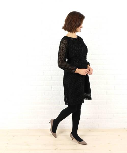 Dress apt.(ドレスアプト)ポリエステル ベルト付き ワンピース・16405-1991502【レディース】