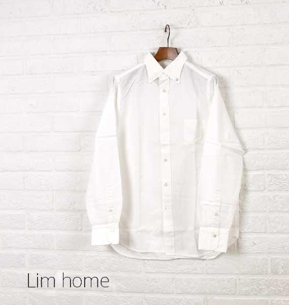 """Lim Home(リムホーム)コットン オックスフォード 長袖 ボタンダウンシャツ """"smart shirt""""・LH-B035-M-3301602【メンズ】"""