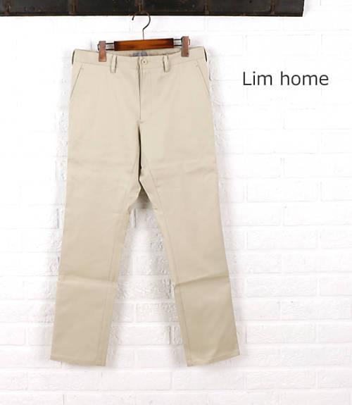 Lim Home(リムホーム)コットン ポリウレタン ストレート スラックスパンツ・LH-P023-3301501【メンズ】