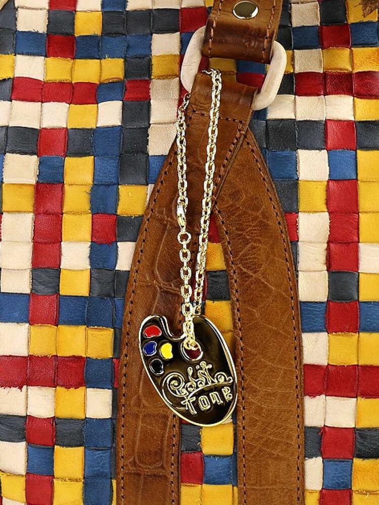 robita 口气 (口气联盟) 皮革颜色网格肩包-口气-033-2621501