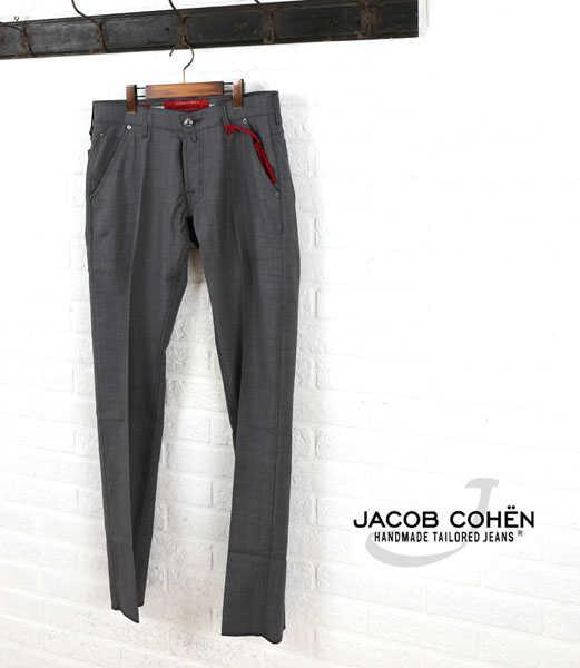 【お買い物するだけ20倍】JACOB COHEN(ヤコブコーエン)ウール 5ポケット パンツ・226-70472-3451501【メンズ】