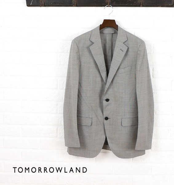 【40%OFF】TOMORROWLAND(トゥモローランド)ウール シルク テーラード ジャケット・61-07-52-07102-0171501【メンズ】