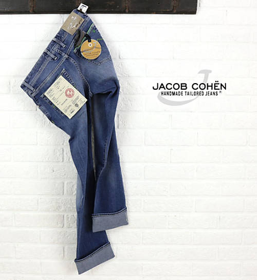 【お買い物するだけ20倍】JACOB COHEN(ヤコブコーエン)ウォッシュインディゴ ストレッチスリム リミテッドデニムパンツ・226-74122-3451501【メンズ】