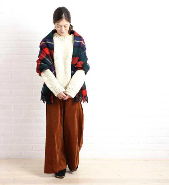 【お買い物するだけ20倍】Allumer(アリュメール)ウール Hand knit クルーネック プルオーバー・8153802-3711602【レディース】