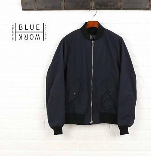 Blue Work(ブルーワーク)ギャバジン リブ ブルゾン ジャケット・54-08-61-08105-0171601【メンズ】【last_1】