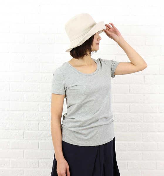 three dots(スリードッツ)コットン 半袖 ラウンドネック Tシャツ・BO1328Y-0441601【レディース】
