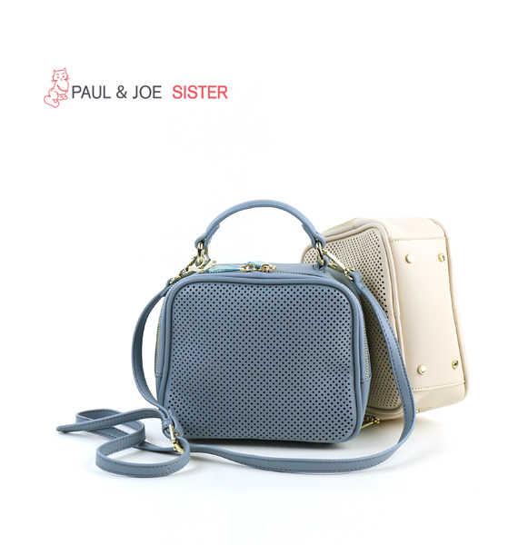 PAUL&JOE SISTER(ポール&ジョー シスター)FANNY DOT PVC パンチング加工 2WAY ミニバッグ MINI FLAP BAG・36163106033-2021601【レディース】