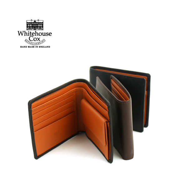 "Whitehouse Cox(ホワイトハウスコックス)ホースハイド 二つ折り財布 ウォレット ""NOTECASE WITH COIN CASE(DERBY COLLECTION)""・S7532-D-1831901【メンズ】【レディース】【JP】"