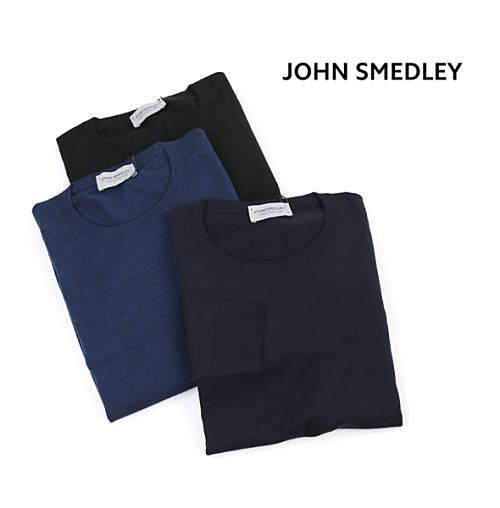 JOHN SMEDLEY(ジョンスメドレー)メリノウール メンズ クルーネック 長袖 ニット プルオーバー・SICILY-2851802【メンズ】