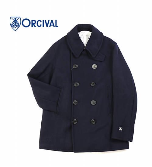 【20%OFF】ORCIVAL(オーチバル・オーシバル)ジーロンラムウール メルトン ダブルボタン Pコート・RC-8808GSM-0321702【メンズ】【JP】