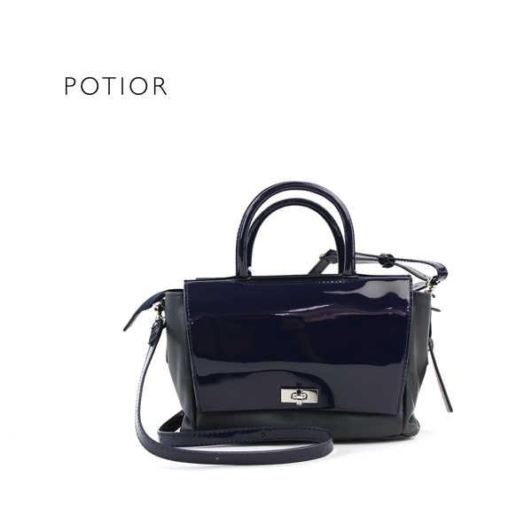 PotioR(ポティオール)やぎ革×牛革 2WAY ミニバッグ ショルダーバッグ ハンドバッグ・GOP-0046-2701701【レディース】