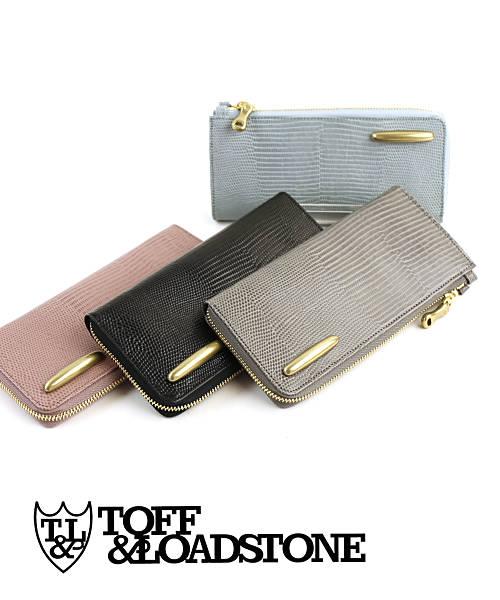 TOFF&LOADSTONE(トフアンドロードストーン)リザード型押しレザー 長財布 ロングウォレット デリスリザード財布(L字ジップ型)・TLA-360-1471802【レディース】【■■】