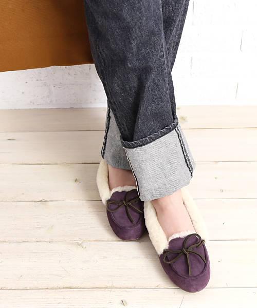 7be83fdc175 UGG (アグ) suede sheepskin moccasins shoes loafer W SOLANA LOAFER  .1020041-2,541,802