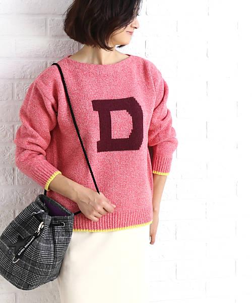 dahl'ia(ダリア)ウール レタード プルニット セーター・DKT-163-1721802【レディース】【■■】