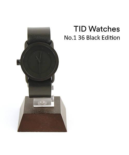 TID Watches(ティッドウォッチズ) レザーベルトセット 腕時計 レディースウォッチ No.1 36 Black Edition・154553-3701802【レディース】【1F-W】【■■】