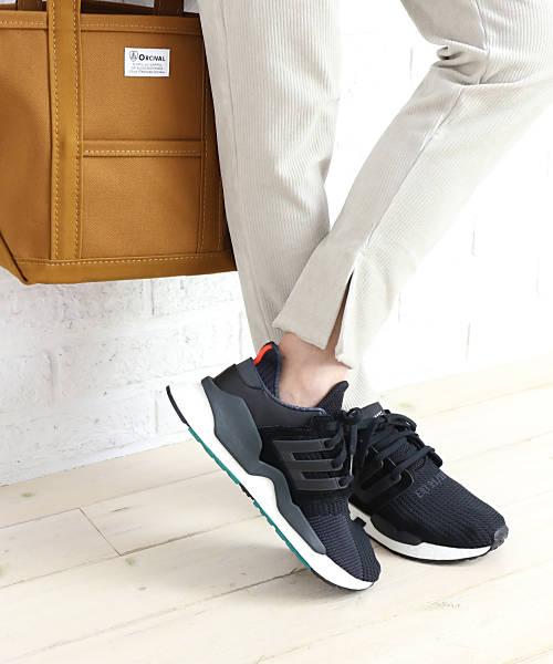 【D-4】adidas(アディダス)ニット×レザー スニーカー EQT SUPPORT 91/18 イーキューティー サポート・B37520-0121802【レディース】【■■】