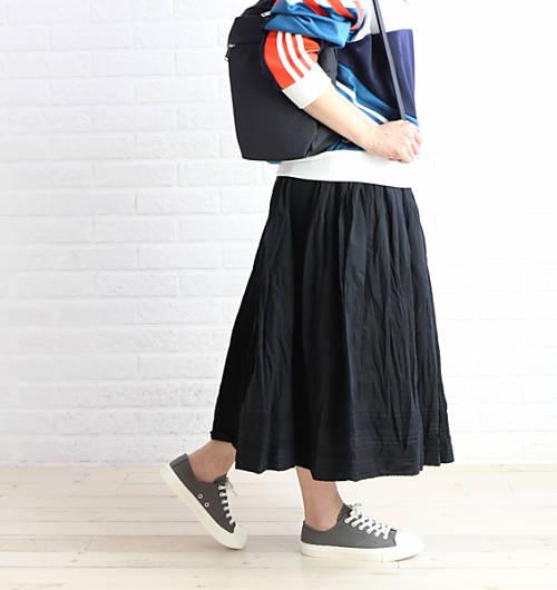 alacrity(アラクリティー/アラクリティ)コットン 裾ピンタック ギャザー ペチスカート ロングスカート・750948-1381801【レディース】