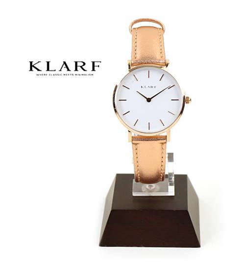 KLARF(クラーフ)レザーベルト ラウンドフェイス 腕時計 レディースウォッチ プティ 33mm ・K-1619-3731801【レディース】【1F-W】【last_1】