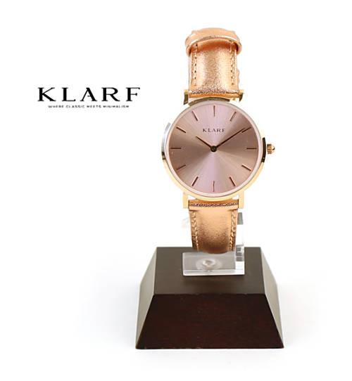 KLARF(クラーフ)レザーベルト ラウンドフェイス 腕時計 レディースウォッチ プティ 33mm ・K-1621-3731801【レディース】【1F-W】【last_1】