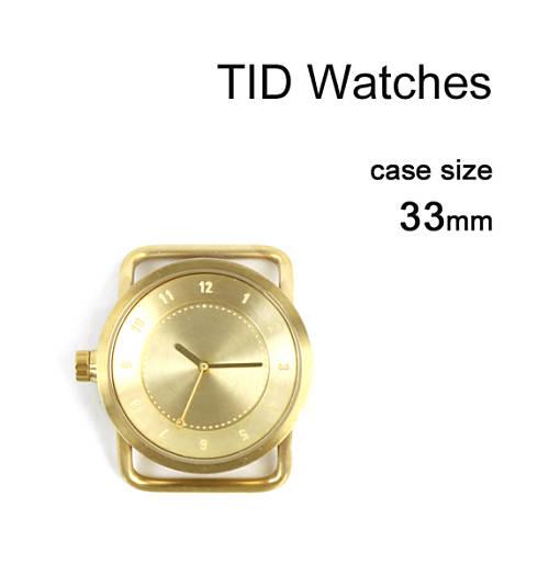 TID Watches(ティッドウォッチズ) No.1 Collection 33mm 腕時計 文字盤 ゴールドケース/ゴールドダイアル・148435-3701801【メンズ】【レディース】【1F-W】