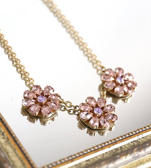 RIE GOMAJIMA(リエ・ゴマジマ)真鍮 ゴールドメッキ スパークリング フラワー ネックレス Costume Line Flower Necklace・CL-NF-4271801【レディース】【last_1】