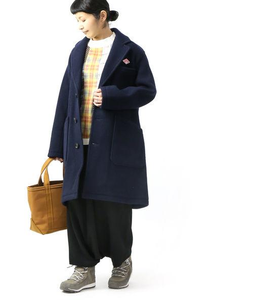 【お買い物するだけ10倍】DANTON(ダントン)ウールモッサ テーラードカラー ショップコート チェスターコート・JD-8991WOM-0321902【レディース】【JP】【■■】