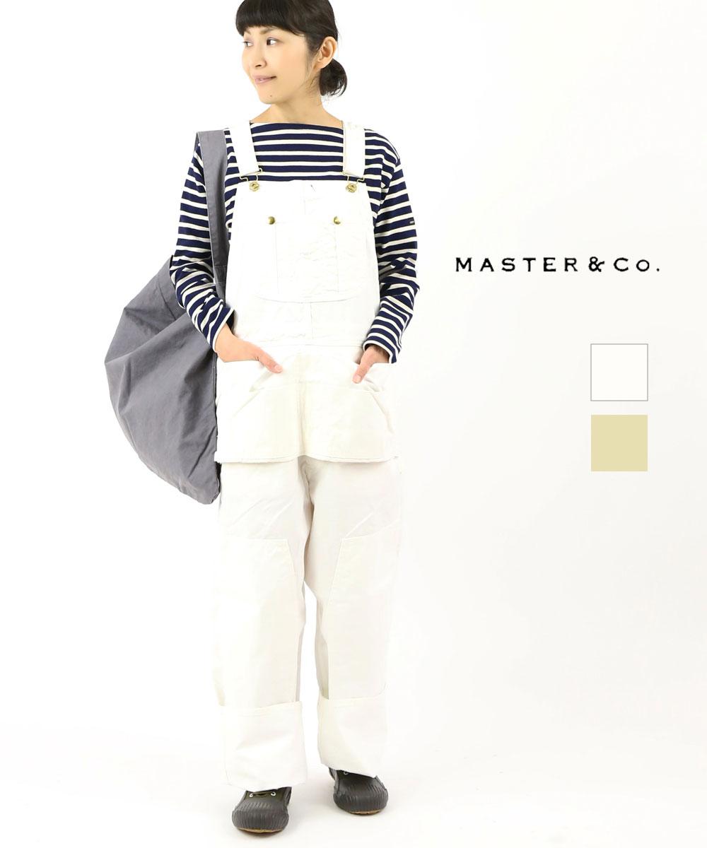 【お買い物するだけ20倍】Master&Co.(マスターアンドコー)コットンチノ オーバーオール サロペット オールインワン・MC668-3281902【レディース】【■■】