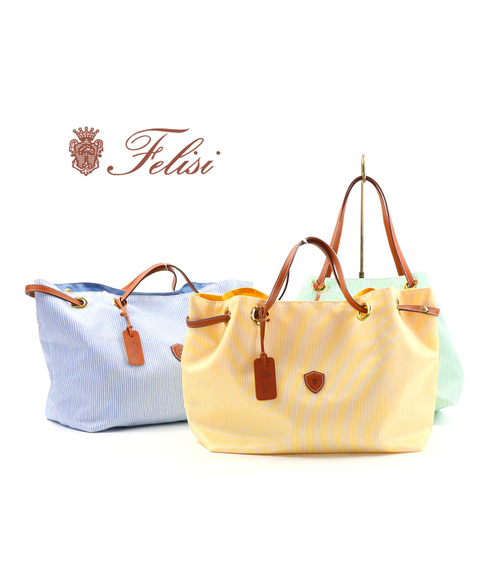 Felisi(フェリージ)シアサッカープリントナイロン×レザー ハンドバッグ 17/21/SR+DS+A・17-21-SR-DS-A-0191901【レディース】【JP】【■■】