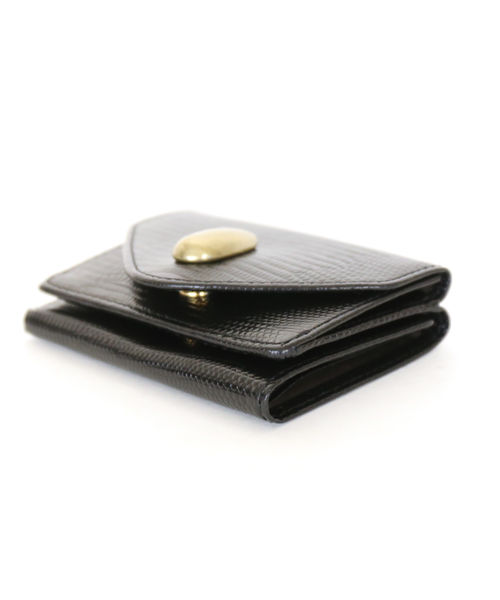 TOFF LOADSTONE トフアンドロードストーン リザード型押しレザー三つ折り財布 ミニウォレット ミニ財布 デリスリA54q3RjL