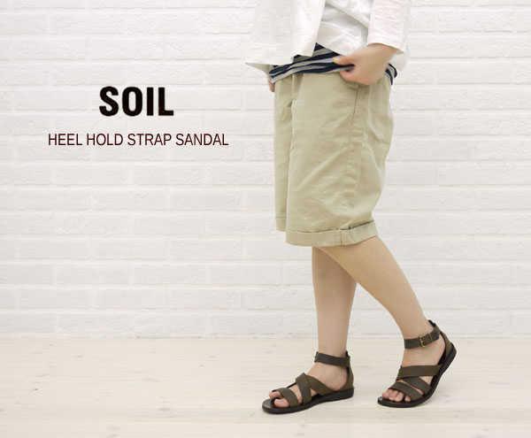 【ソイル SOIL】HEEL HOLD STRAP SANDAL・ENSL1101-0341101【レディース】【シューズ】【A-3】