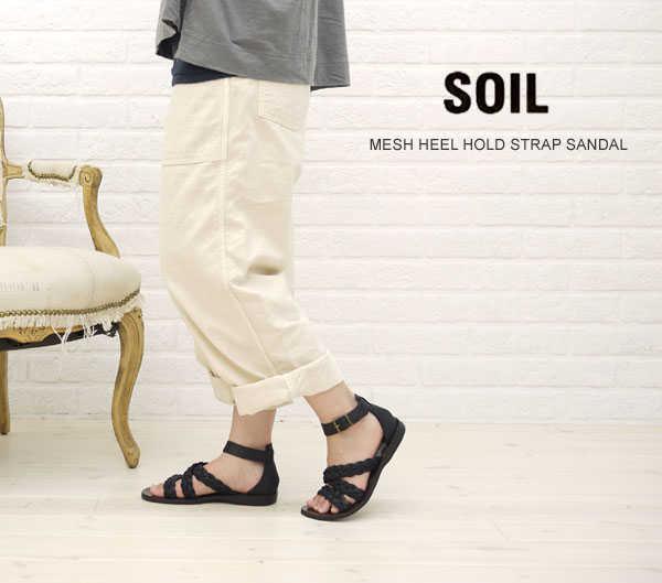 【ソイル SOIL】MESH HEEL HOLD STRAP SANDAL・ENSL1101M-0341101【レディース】【シューズ】【A-3】