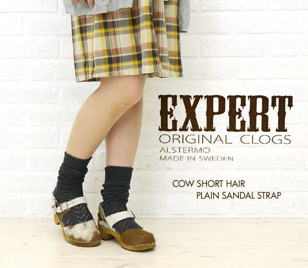 【エキスパート EXPERT】COW SHORT HAIR PLAIN SANDAL STRAP・NEP1102H-0341102【レディース】【シューズ】【A-3】