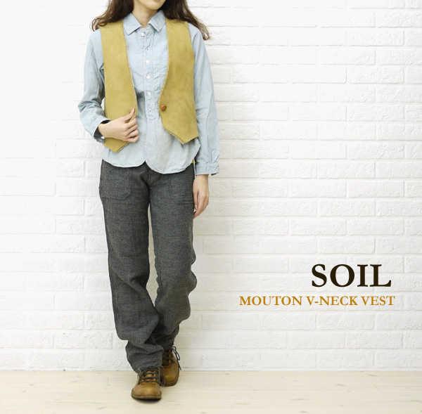 【30%OFF】【ソイル SOIL】MOUTON V-NECK VEST・GNSL2152-0341102【レディース】【トップス】【last_1】