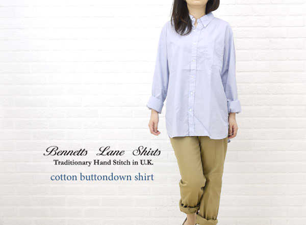 【べネッツレーンシャツ Bennetts Lane Shirts】コットン長袖ボタンダウンシャツ・NBSL1001-0341201【レディース】【トップス】