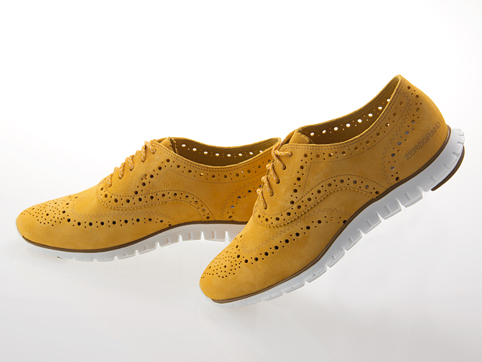 COLE HAAN ZEROGRAND WING OXFORD ground zero wing Oxford WOMEN ladies girls  SUNFLOWER SUEDE suede y B #D44881