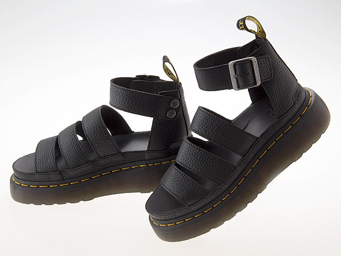 ドクターマーチン Dr.Martens CLARISSA II QUAD CHUNKY STRAP SANDAL クラリッサ 2 クアッド チャンキー ストラップ サンダル グラディエーター 厚底 メンズ・レディースサイズ BLACK ブラック 黒 #24476001
