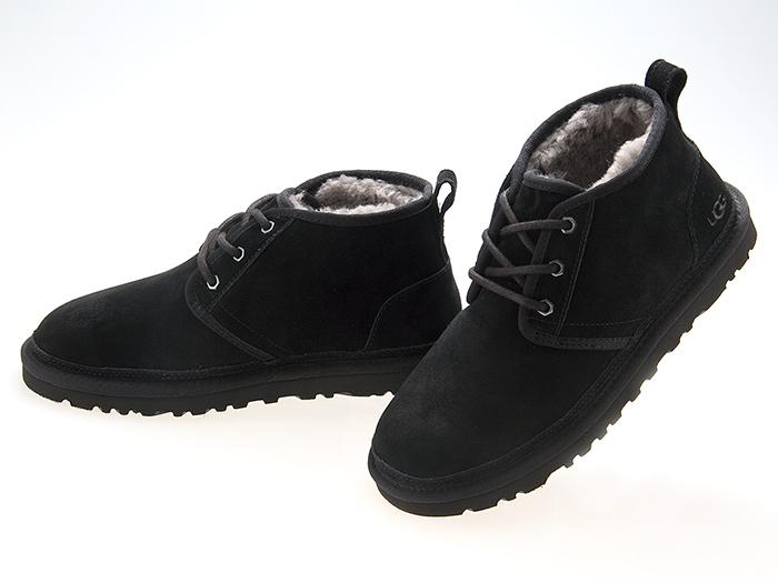 アグ UGG AUSTRALIA MENS NEUMEL SUEDE CHUKKA BOOTS メンズ ニューメル スエード チャッカ ムートン ブーツ BLACK ブラック 黒 #3236-blk