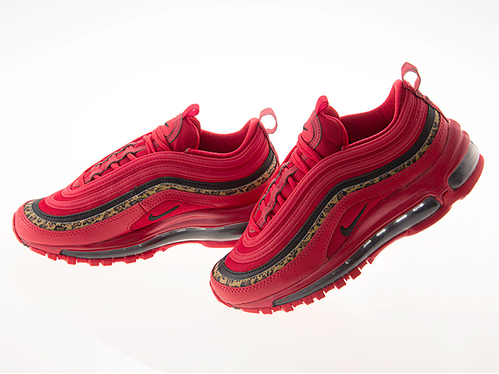 Nike NIKE WMNS AIR MAX 97 women Air Max 97 girls Lady's size UNIVERSITY REDBLACKLEOPARD university red レオパード #bv6113 600
