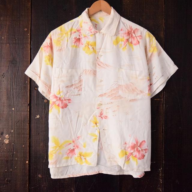 60's レーヨンアロハシャツ 【古着】 【ヴィンテージ】 【中古】 【メンズ】