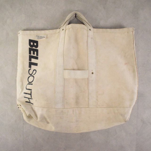 USA製 BELL SOUTH Canvas hand bag キャンバス ハンドバッグ 鞄  【古着】 【ヴィンテージ】 【中古】 【メンズ店】